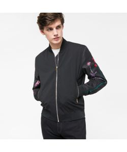 Paul Smith | Stretch-Wool Bomber Jacket With Embroidery