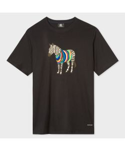 Paul Smith   Cycle Stripe Zebra Print Organic T-Shirt