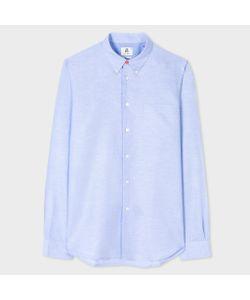 Paul Smith | Men Tailored-Fit Cotton-Linen Slub Button-Down Shirt