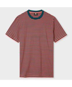 Paul Smith   And Petrol Stripe Supima T-Shirt