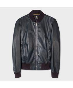 Paul Smith | Mens Leather Bomber Jacket