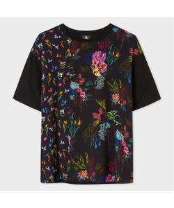 Paul Smith   Silk-Panel T-Shirt With Ocean Print