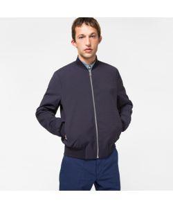 Paul Smith | Wool-Blend Diamond Jacquard Bomber Jacket