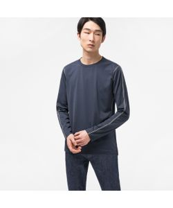 Paul Smith | Long-Sleeve T-Shirt With Double-Stripe Taping Detail