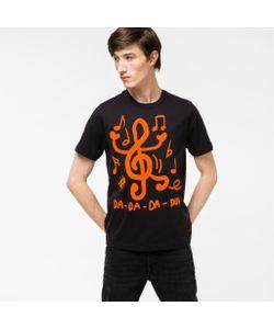 Paul Smith | Mens Treble Clef Print Organic-Cotton T-Shirt