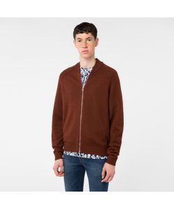 Paul Smith | Mens Merino Wool Zip-Front Cardigan
