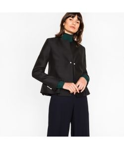 Paul Smith | Wool-Silk Jacket With Structure Detailing
