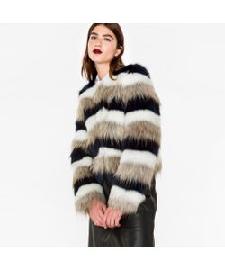 Paul Smith | Striped Faux-Fur Jacket