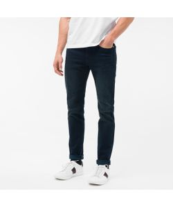 Paul Smith | Mens Slim-Fit Over-Dyed Wash Crosshatch Stretch-Denim Jeans
