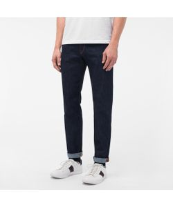 Paul Smith | Mens Tape-Fit Crosshatch Stretch-Denim Jeans
