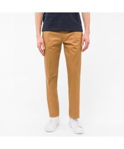 Paul Smith | Mid-Fit Mercerised Stretch-Cotton Twill Chinos