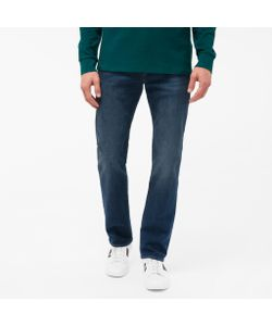 Paul Smith | Mens Standard-Fit Mid-Wash Crosshatch Stretch-Denim Jeans