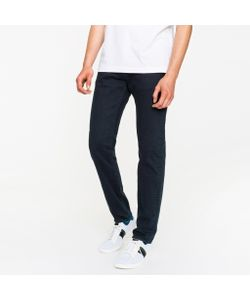 Paul Smith | Slim-Standard 11.8oz Dark Over-Dyed Super Soft Cross-Hatch Stretch-Denim Jeans