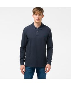 Paul Smith | Mens Embroide Ps Logo Long-Sleeve Polo Shirt