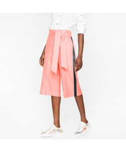 Paul Smith | Wool-Linen Shorts With Silk Stripes