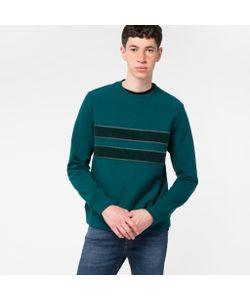 Paul Smith | Mens Organic-Cotton Textu-Stripe Sweatshirt