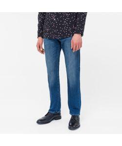 Paul Smith   Standard-Fit Mid-Wash Slub-Denim Stretch Jeans