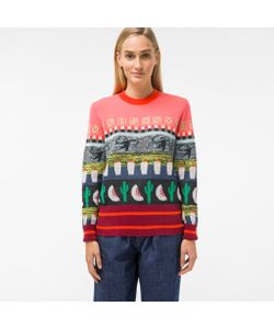 Paul Smith | Mixed-Motif Intarsia Sweater