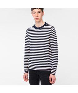 Paul Smith   Mens And Light Breton-Stripe Merino Wool Sweater
