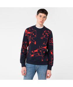 Paul Smith | Mens Organic-Cotton Dancing Dice Print Sweatshirt