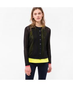 Paul Smith | Womens Mixed-Crochet Cotton Cardigan