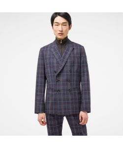 Paul Smith | Tailored-Fit And Damson Check Wool-Silk Double-Breasted Blazer