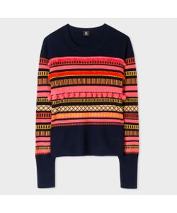 Paul Smith | Mixed-Stripe Sweater With Pom-Poms
