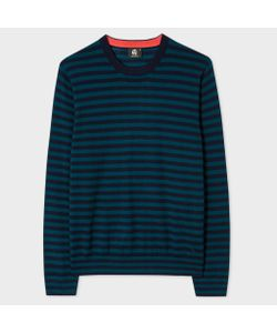 Paul Smith | And Petrol Breton-Stripe Sweater