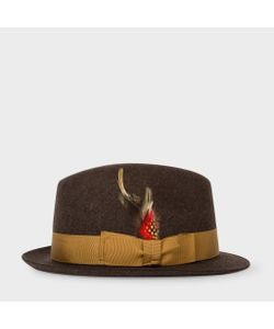 Paul Smith | Mens Wool-Felt Trilby With Feather