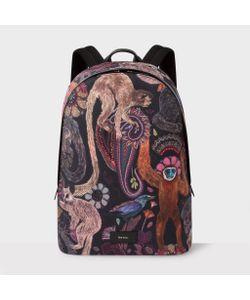 Paul Smith | Canvas Monkey Print Backpack