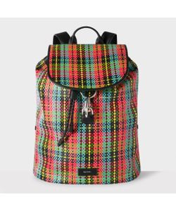 Paul Smith | Multi-Coloured Woven Check Backpack