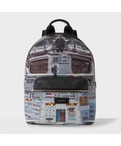 Paul Smith | Leather And Canvas Space Shuttle Print Backpack