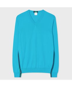 Paul Smith | Pima-Cotton V-Neck Sweater With Contrast Side-Stripes