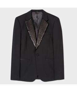 Paul Smith   Tailored-Fit Stretch-Wool Sequin-Lapel Evening Blazer