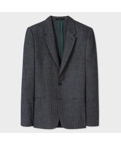 Paul Smith | Tailored-Fit And Mini-Check Unlined Wool-Blend Blazer