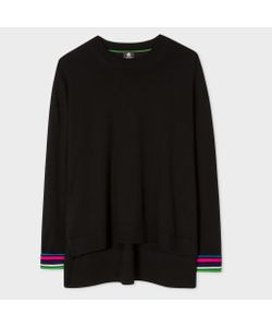 Paul Smith | Oversized Sweater With Cycle Stripe Cuffs
