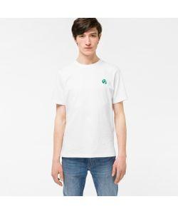 Paul Smith | Mens Organic-Cotton Flocked Ps Logo T-Shirt