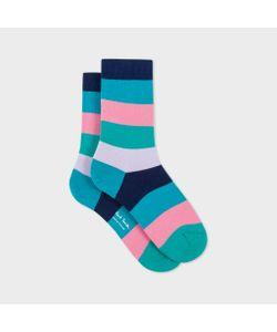 Paul Smith | Womens Ed Pastel Stripe Socks