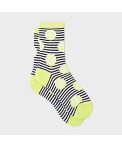 Paul Smith | And Navy Striped-Dot Socks