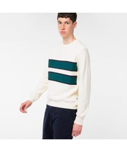 Paul Smith | Mens Cotton Contrast-Stripe Sweatshirt