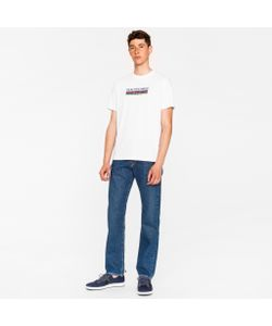 Paul Smith | Standard-Fit Mid-Wash 12oz Pepper N Salt Organic Jeans