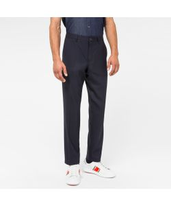 Paul Smith | Mens Hopsack Tapered-Fit Trousers