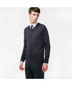 Paul Smith | Mens Merino-Wool V-Neck Sweater