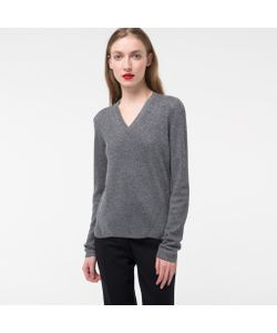 Paul Smith | Womens Glitte Wool-Blend V-Neck Sweater