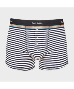 Paul Smith | Navy And Striped Low-Rise Button-Front Boxer Briefs