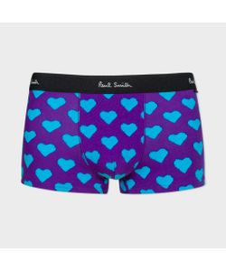 Paul Smith | And Teal Heart Print Low-Rise Boxer Briefs