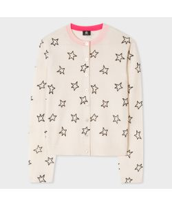 Paul Smith | Womens Merino Wool Cardigan With Flocked Stars