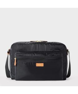 Paul Smith | Lightweight Messenger Bag With Tan Leather Trims