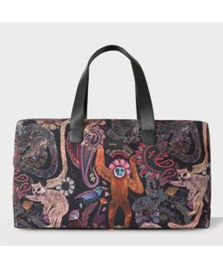 Paul Smith | Canvas And Leather Monkey Print Holdall
