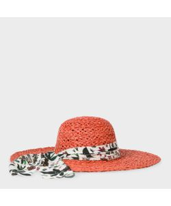 Paul Smith | Straw Sun Hat With Botanical Jungle Print Headband